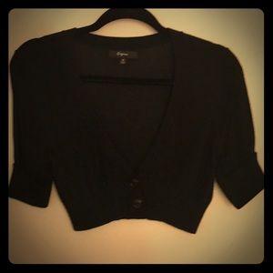 Express 3/4 sleeve black cardigan